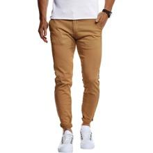 Men Solid Slant Pocket Pants
