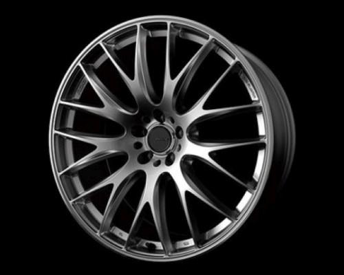 Homura 2X9 Wheel 19x8 5x112 45mm Spark Plated Silver/Rim Edge DMC