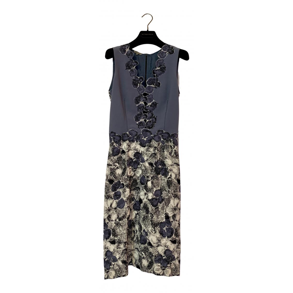 Bottega Veneta \N Kleid in  Blau Viskose
