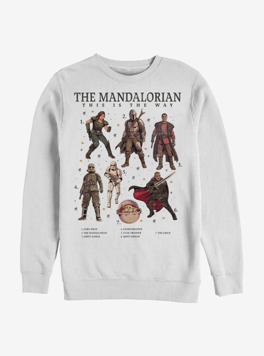 Star Wars The Mandalorian Mando Textbook Sweatshirt