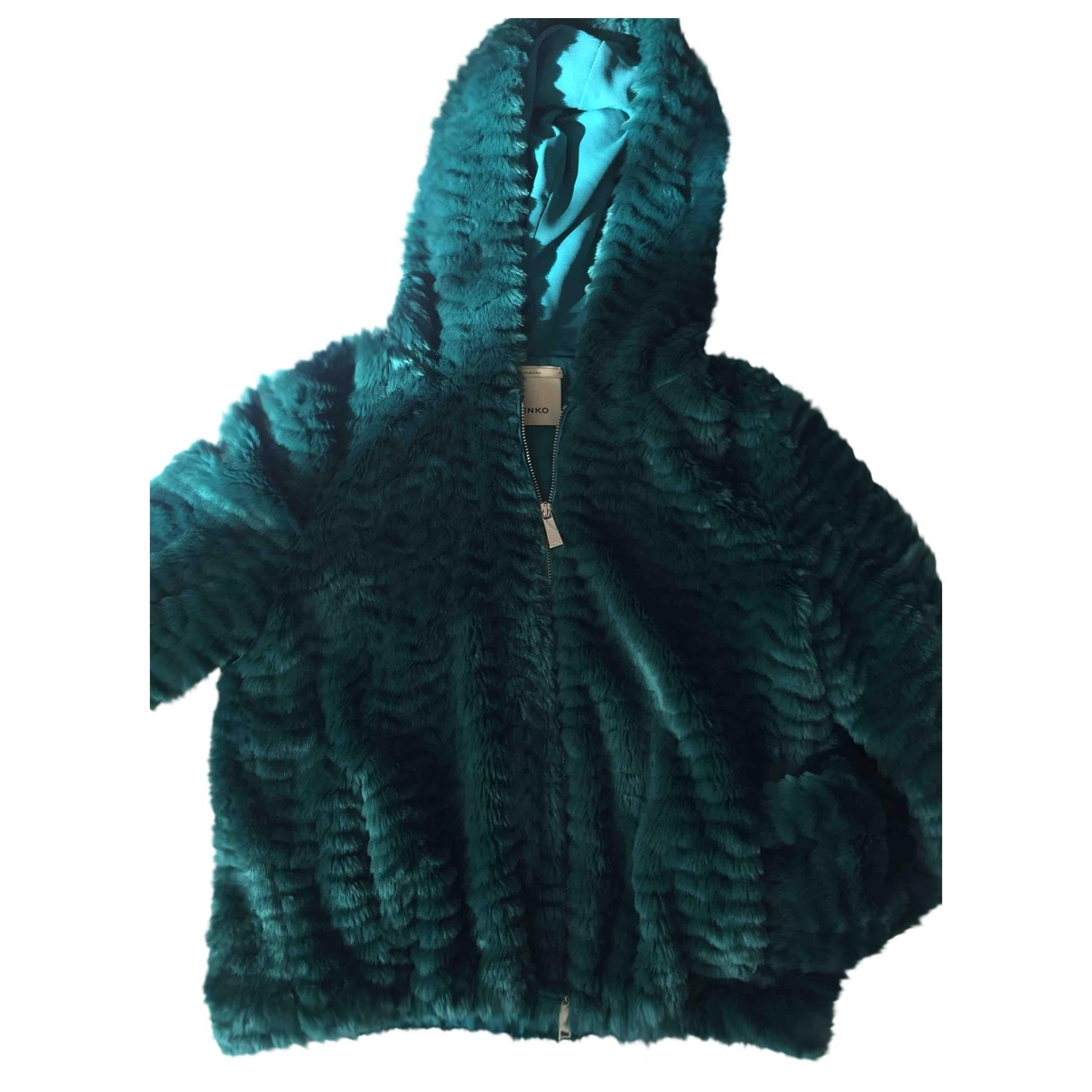 Pinko \N Green Faux fur jacket for Women 40 IT