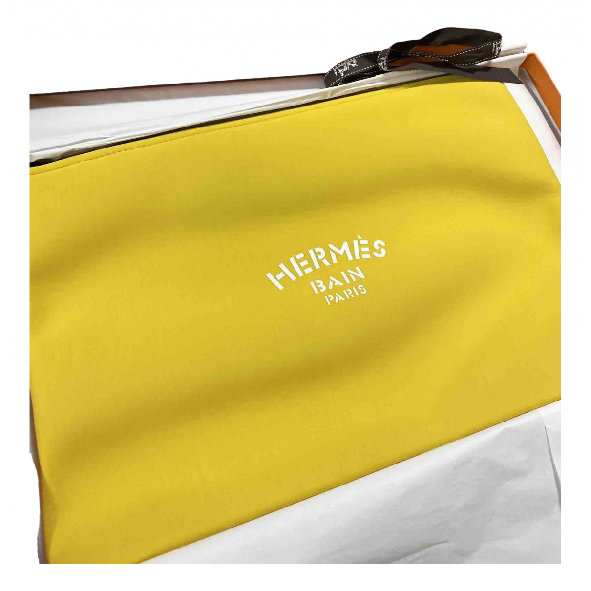Bolsos clutch en Poliester Amarillo Hermes