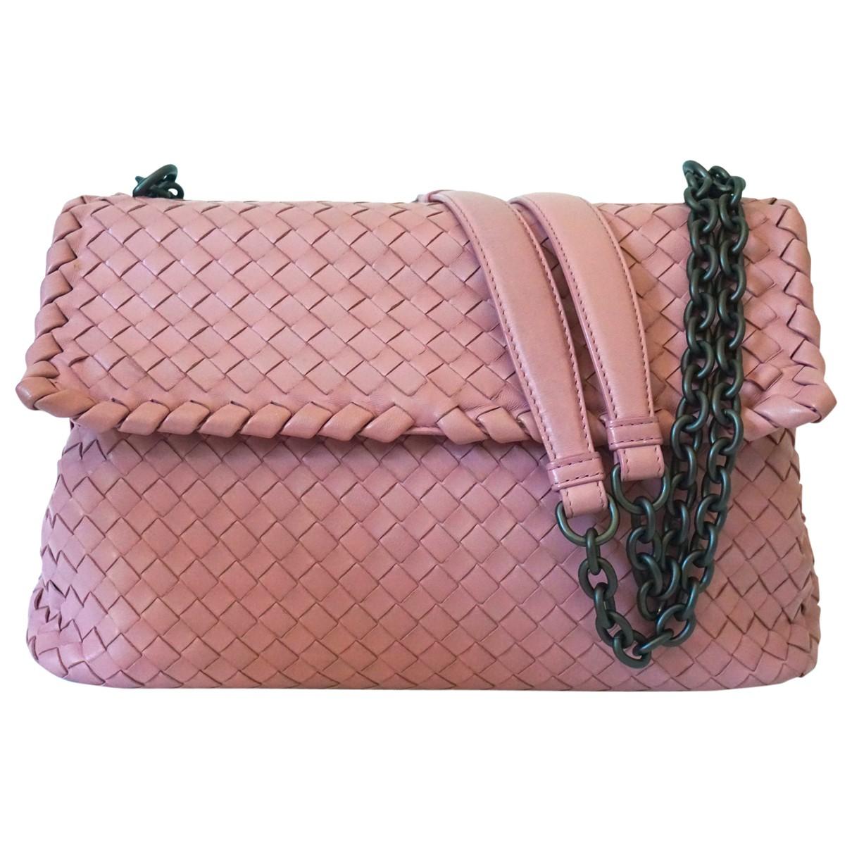 Bottega Veneta - Sac a main Olimpia pour femme en cuir - rose