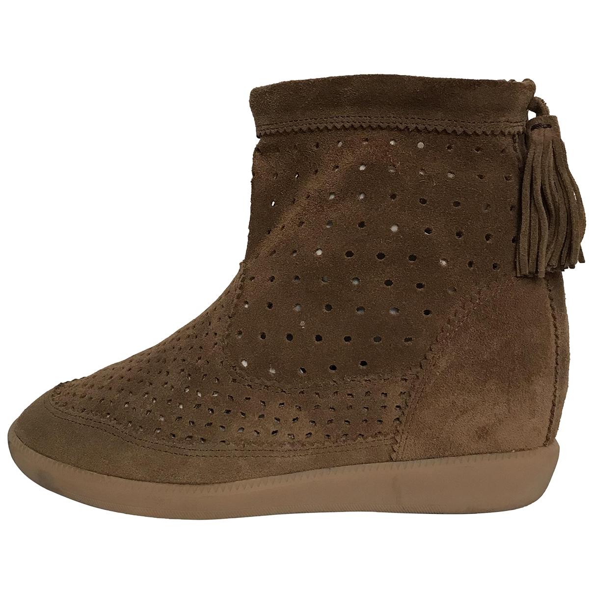 Isabel Marant - Boots   pour femme en suede - camel
