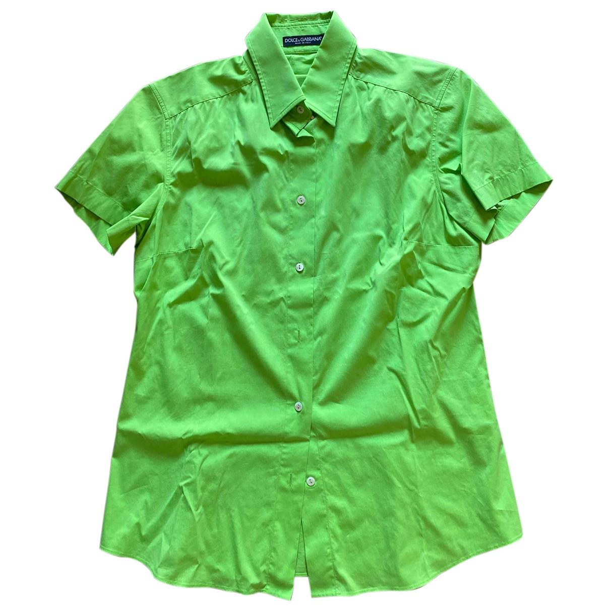 Dolce & Gabbana N Green Cotton  top for Women 46 IT