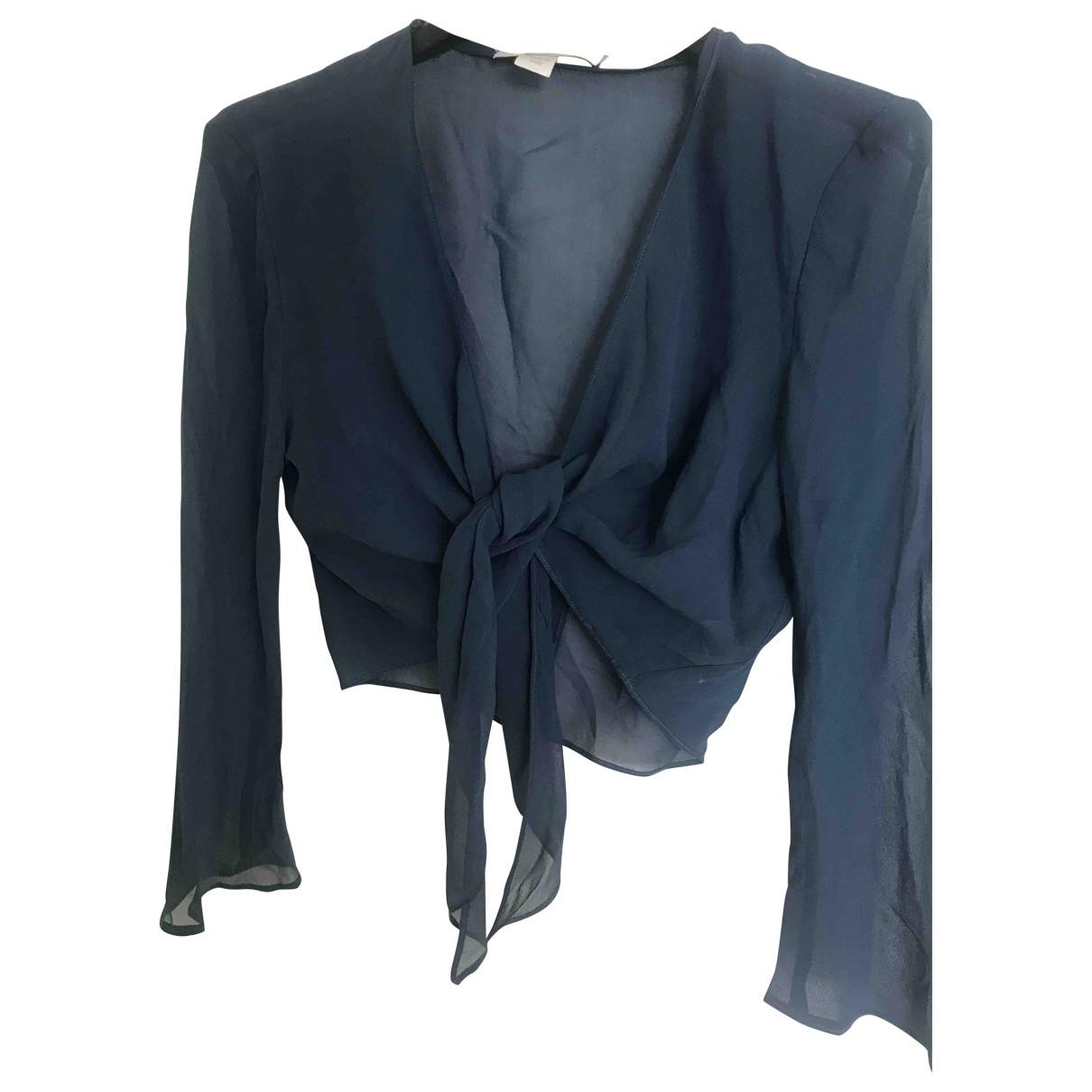 Marella \N Blue Silk  top for Women 44 IT