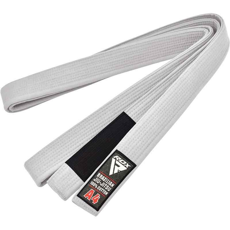RDX 1W A0 White Cotton BJJ Belt Brazilian jiu-jitsu for Men and Women