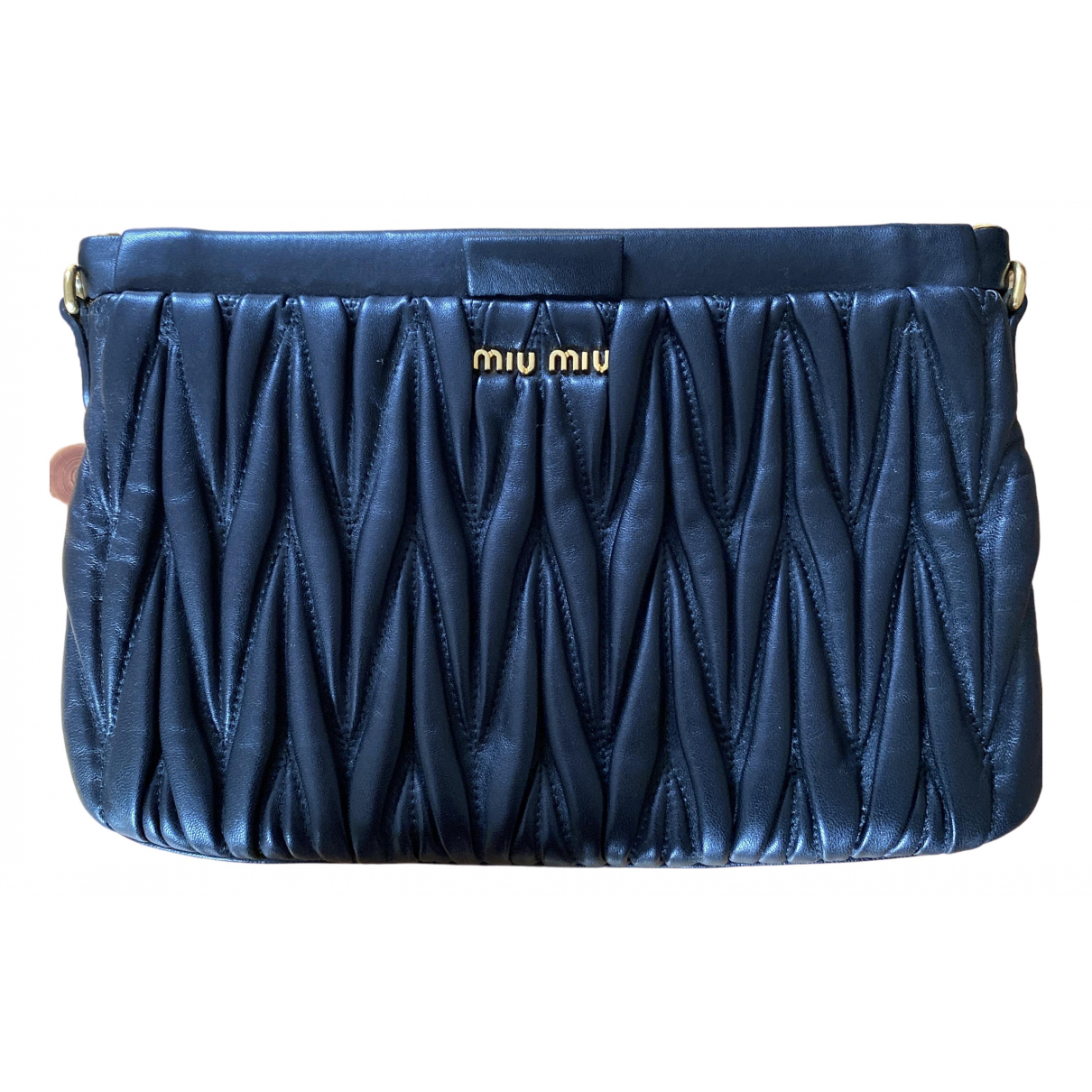 Miu Miu Matelassé Black Leather Clutch bag for Women \N