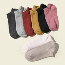 8pairs Plain Ankle Socks