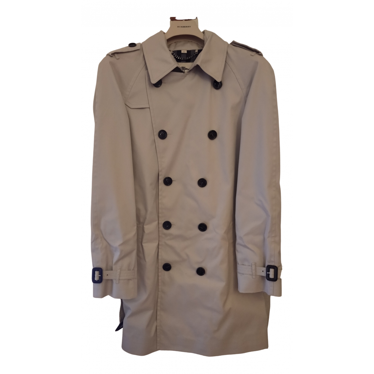Burberry - Manteau   pour homme en coton - gris