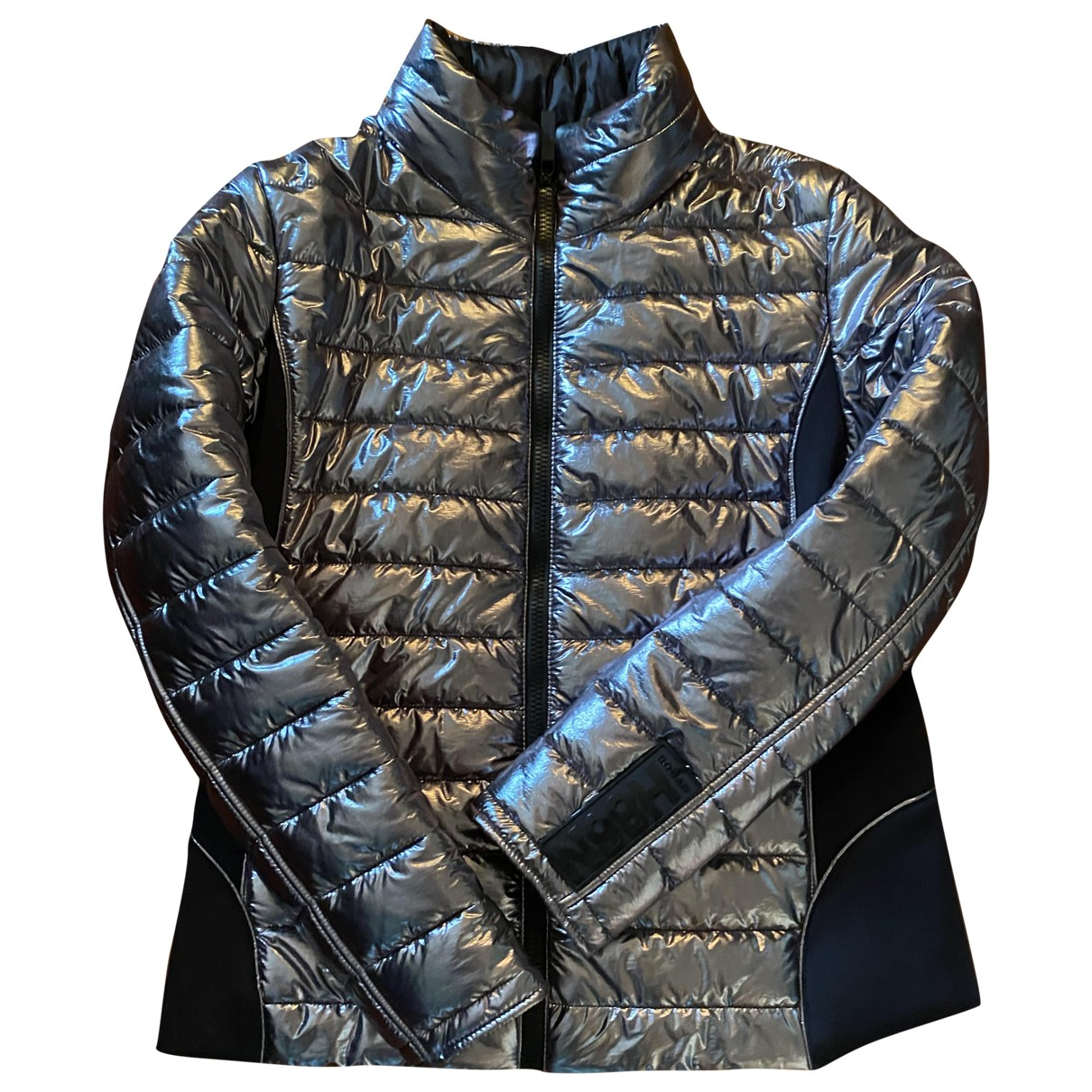 Hogan N Silver Leather jacket for Women L International