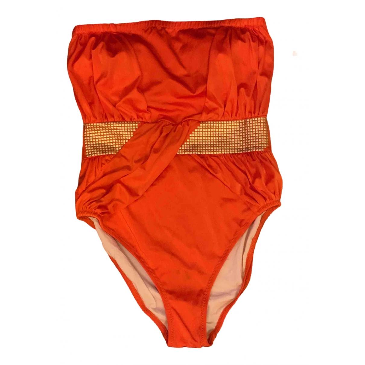 Zeki - Bain   pour femme en lycra - orange