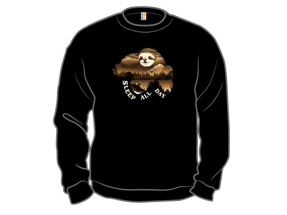 Sleep All Day Crewneck Sweatshirt