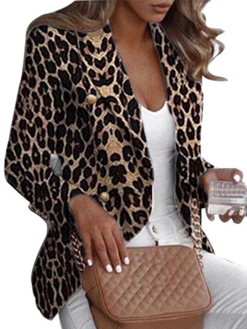 Ericdress Long Sleeve Leopard Regular Standard Casual Blazer