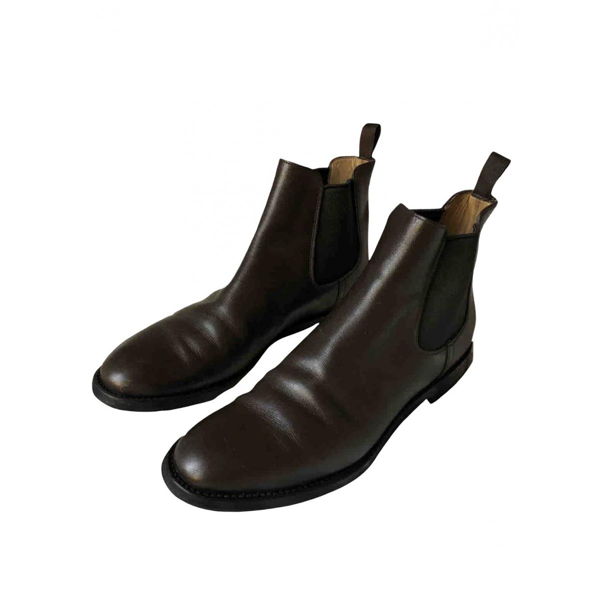 Churchs - Boots   pour femme en cuir - marron