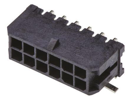 Molex , Micro-Fit 3.0, 43045, 12 Way, 2 Row, Right Angle PCB Header (5)