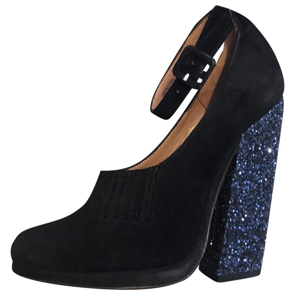 Robert Clergerie \N Black Glitter Heels for Women 37.5 EU
