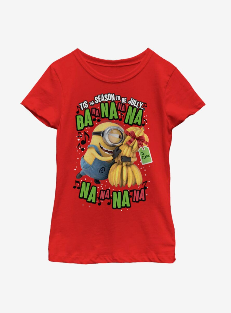 Despicable Me Minions Deck The Halls Youth Girls T-Shirt