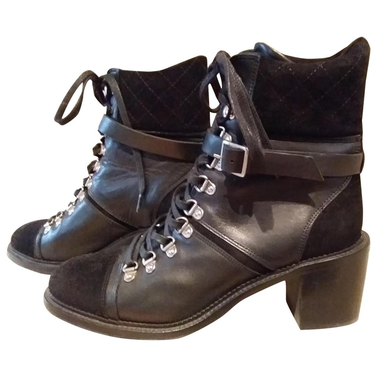 The Kooples - Boots   pour femme en cuir - noir