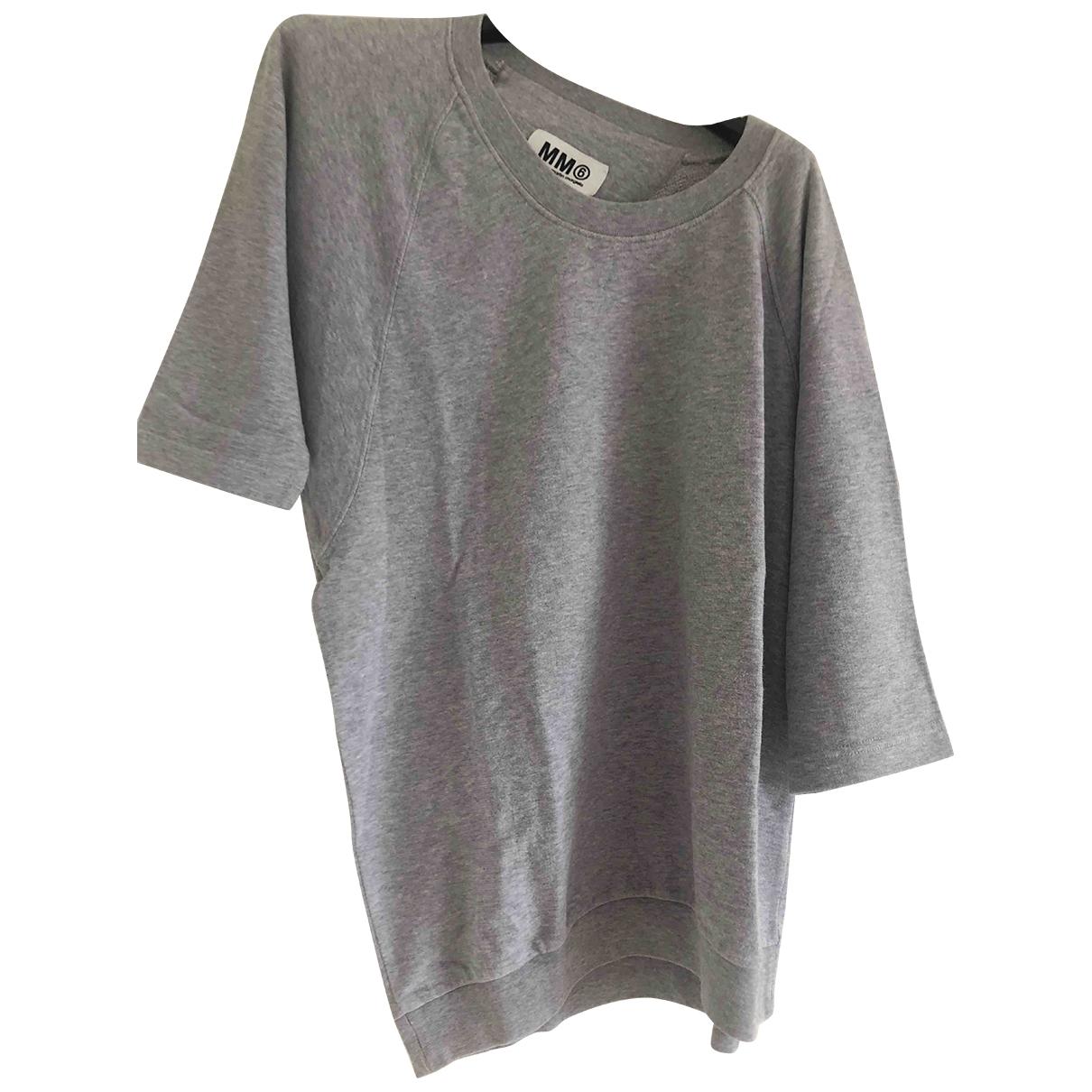 Mm6 \N Top in  Grau Baumwolle