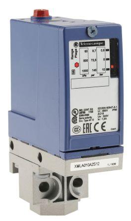 Telemecanique Sensors Pressure Sensor for Various Media , 10bar Max Pressure Reading Relay