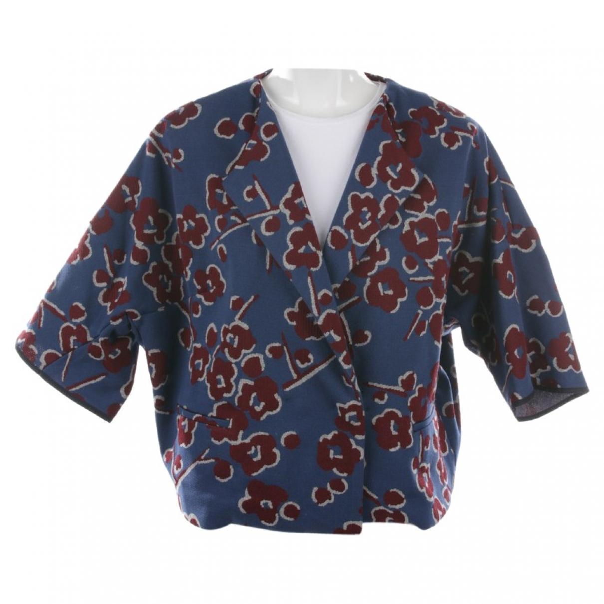 Odeeh - Veste   pour femme en coton - bleu