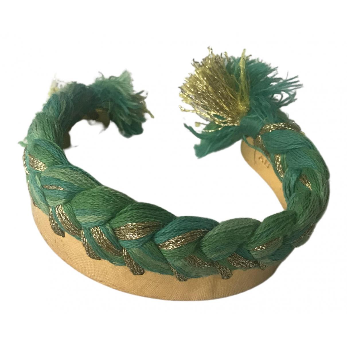 Aurelie Bidermann - Bracelet Copacabana pour femme en plaque or - vert
