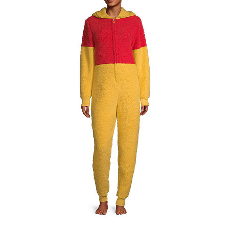 Disney Collection Winnie The Pooh Womens Winnie the Pooh Long Sleeve One Piece Pajama, Large , Yellow