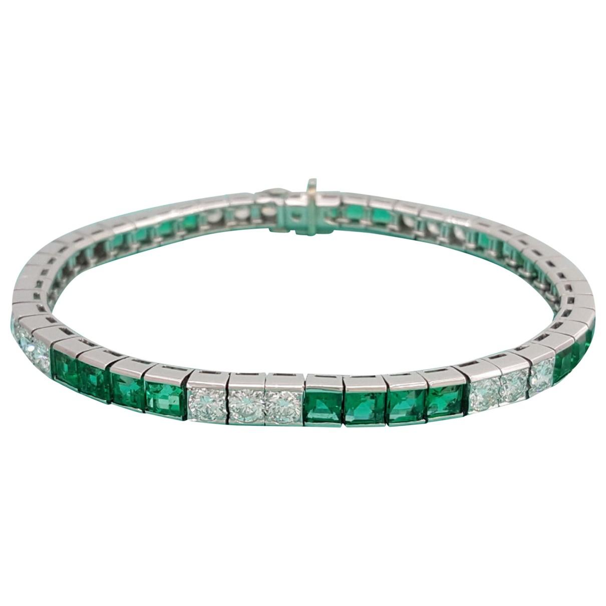 Tiffany & Co - Bracelet   pour femme en platine - vert