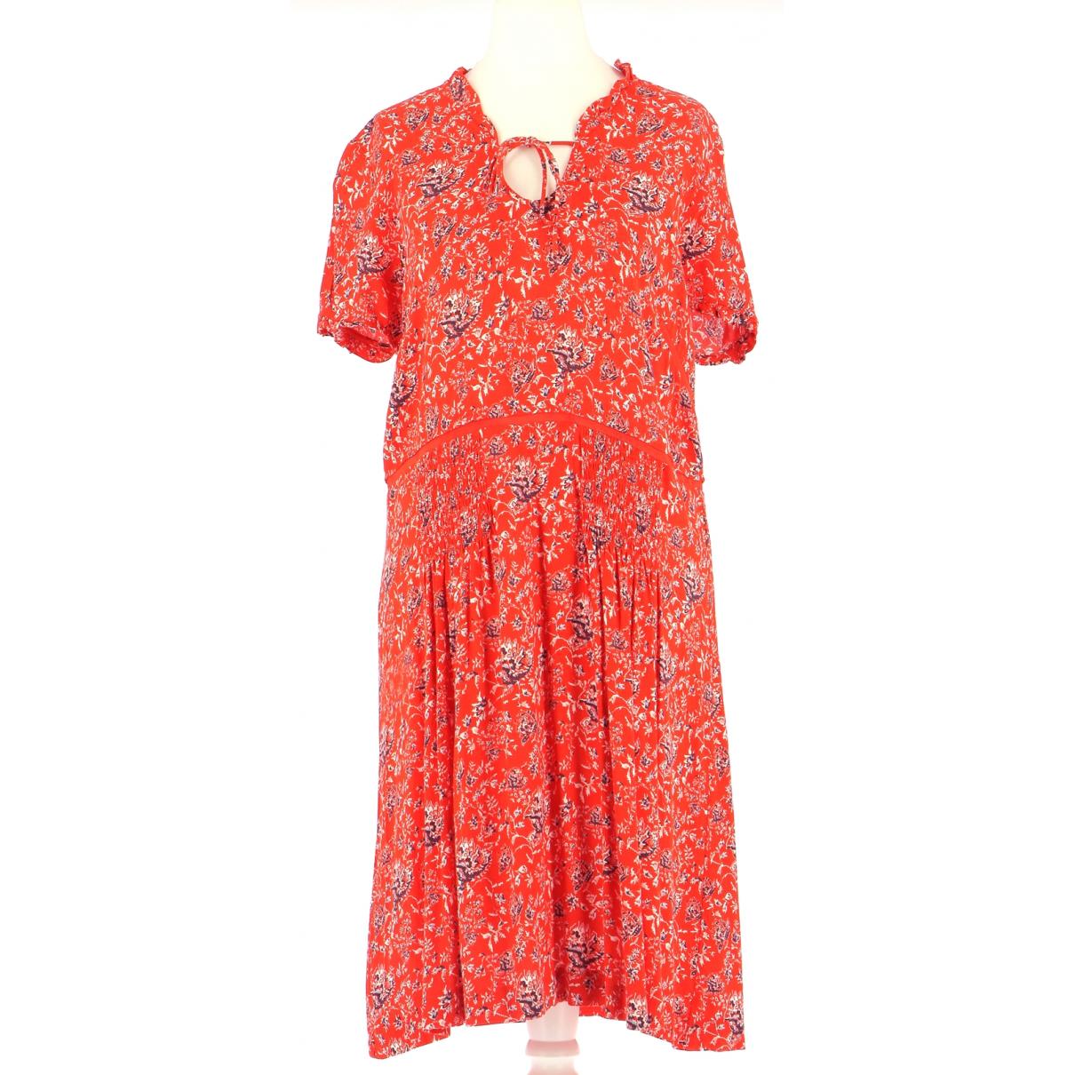 Comptoir Des Cotonniers \N Kleid in  Rot Viskose