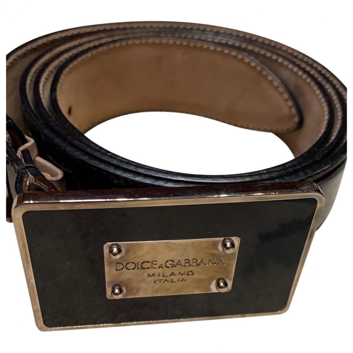 Dolce & Gabbana \N Black Patent leather belt for Women 80 cm
