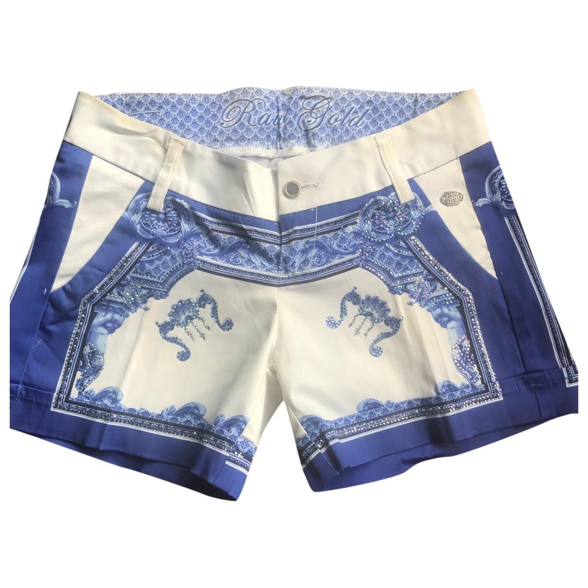 Non Signe / Unsigned \N Shorts in  Blau Leinen