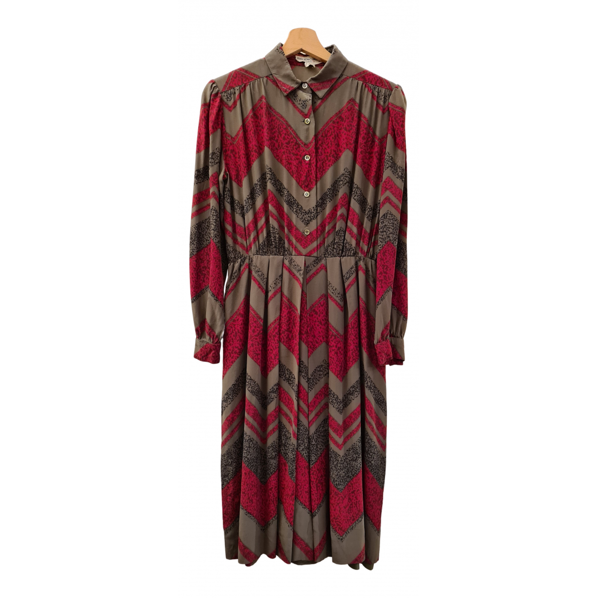 Balenciaga - Robe   pour femme en soie - kaki