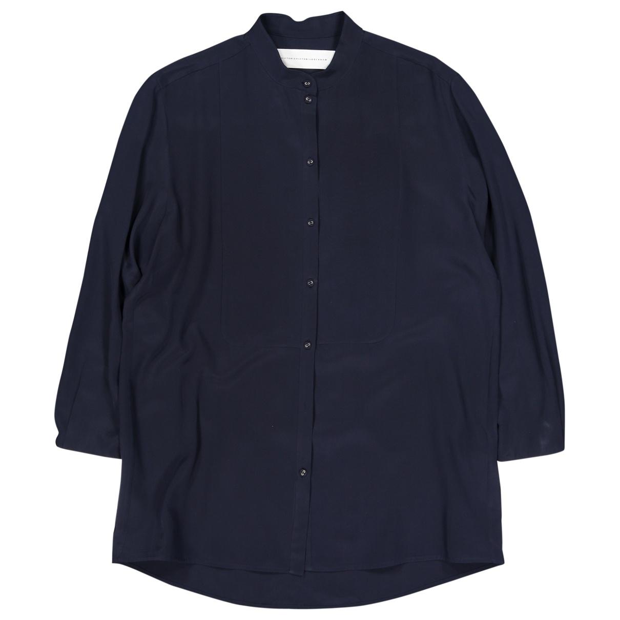 Victoria, Victoria Beckham \N Navy Silk  top for Women 12 UK