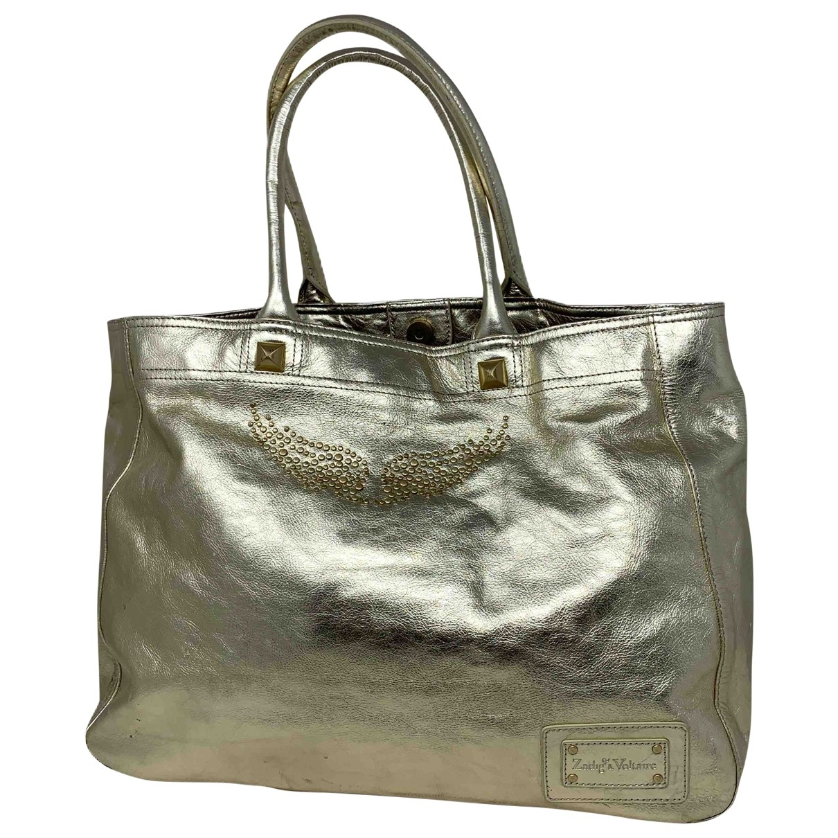 Zadig & Voltaire \N Gold Leather handbag for Women \N