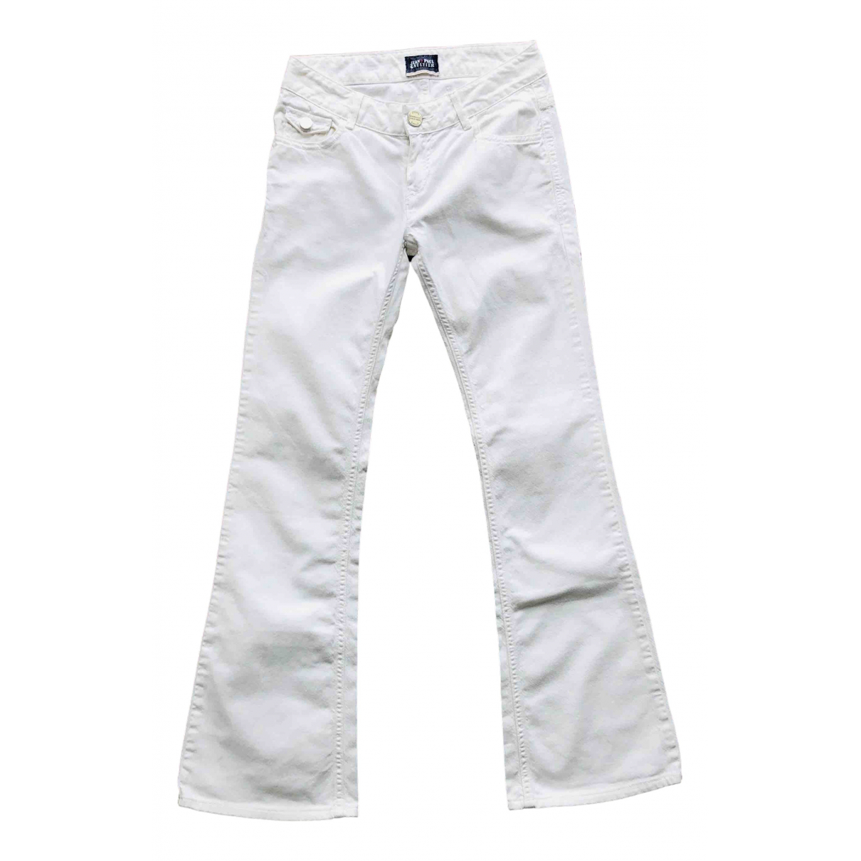Jean Paul Gaultier \N White Cotton Jeans for Women 35 FR