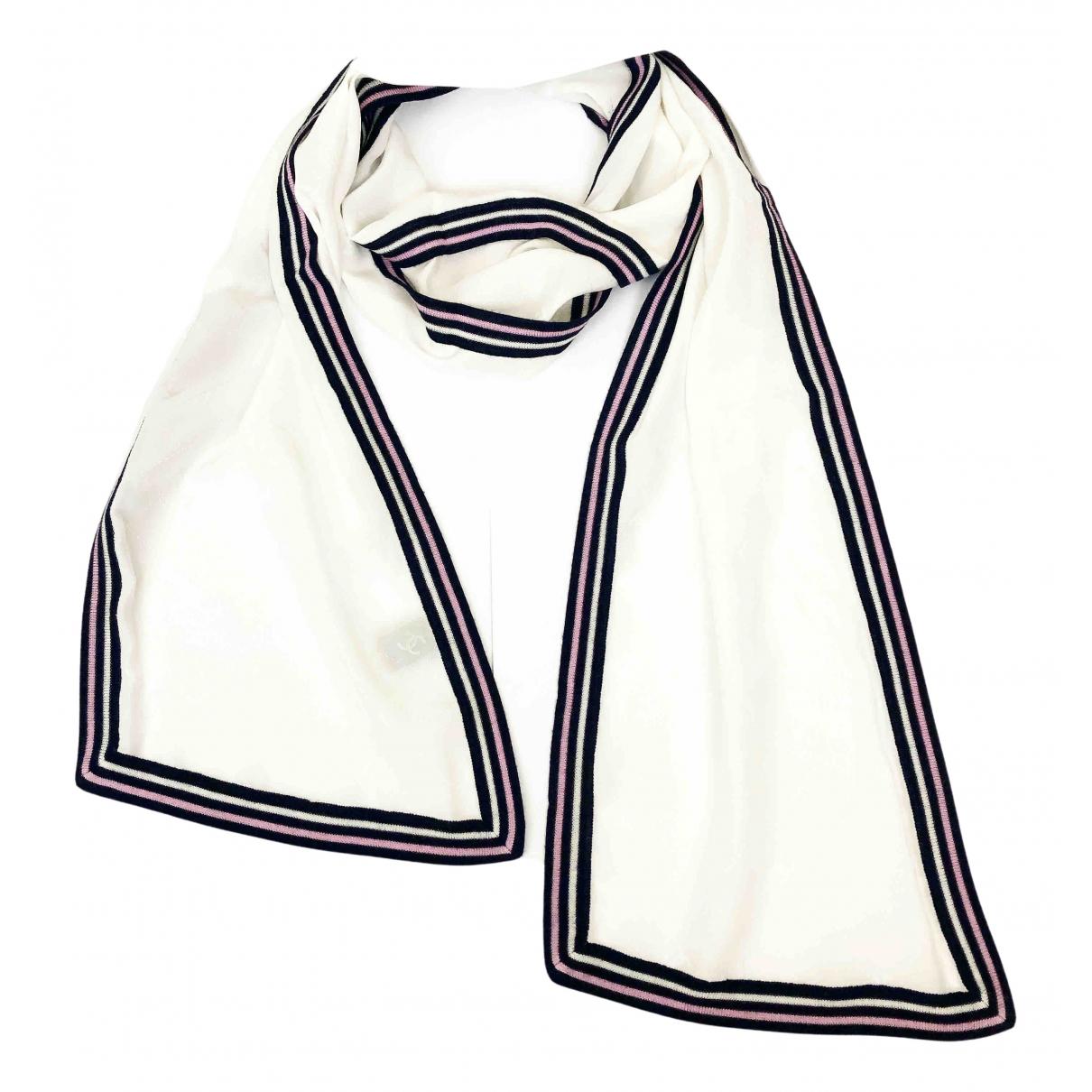 Chanel \N White Silk scarf for Women \N