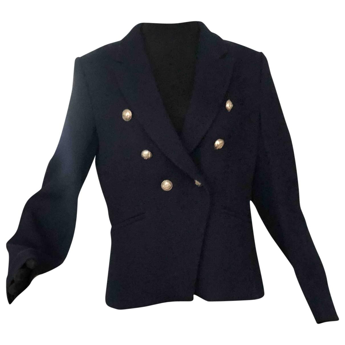 Mango \N Blue Wool jacket for Women XL International