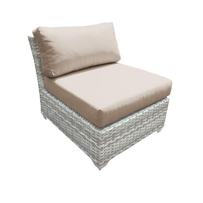 TKC045b-AS-DB-WHEAT Fairmont Armless Sofa 2 Per Box with 2 Covers: Beige and