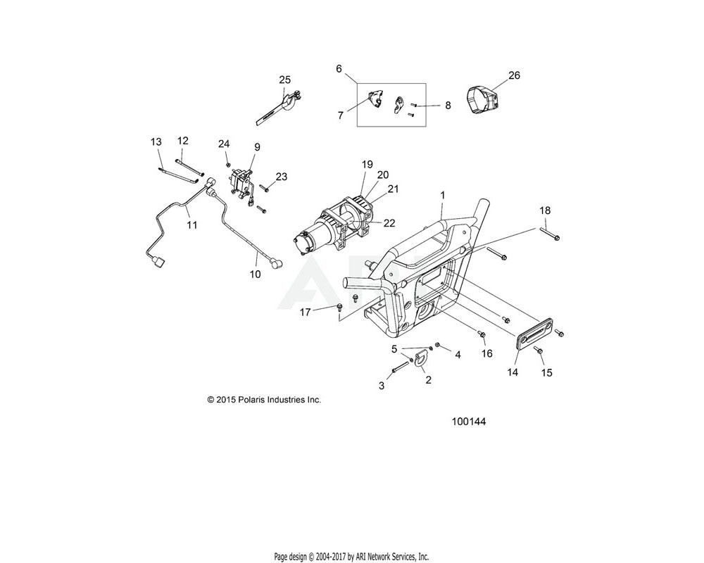 Polaris OEM 1021183-630 WELD-BUMPER, FRONT, LIME SQUZ