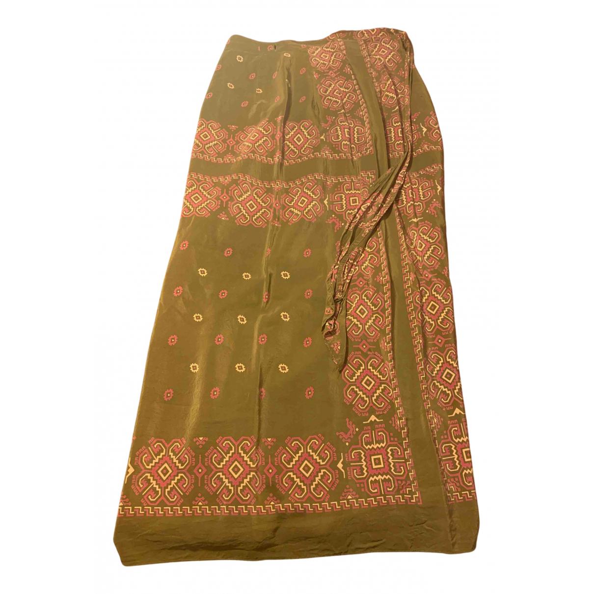 Dkny - Jupe   pour femme en soie - multicolore