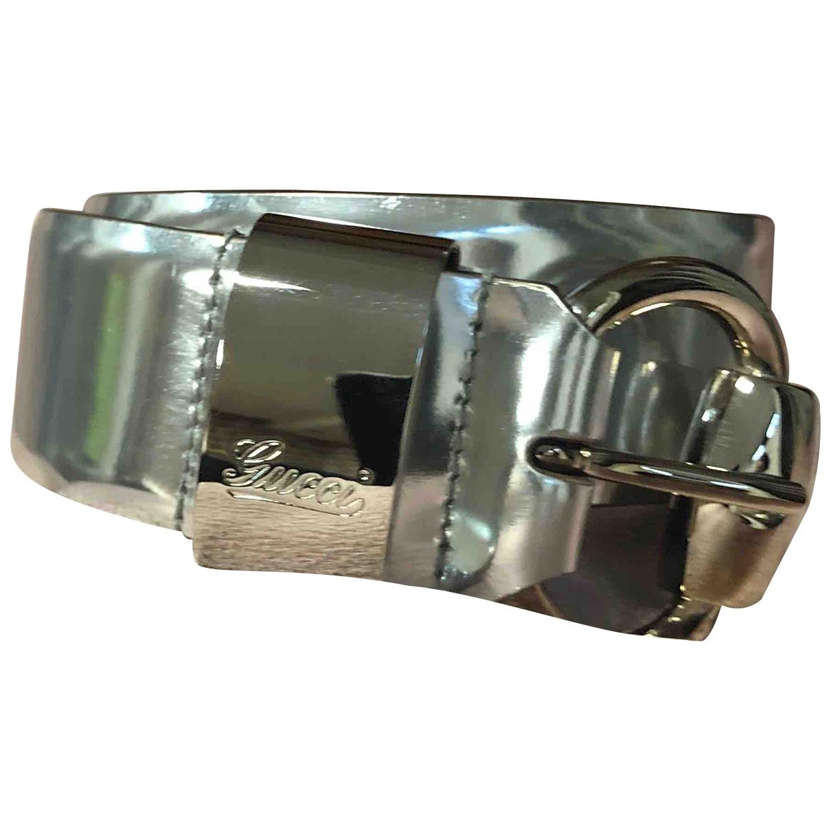 Gucci \N Guertel in  Metallic Leder