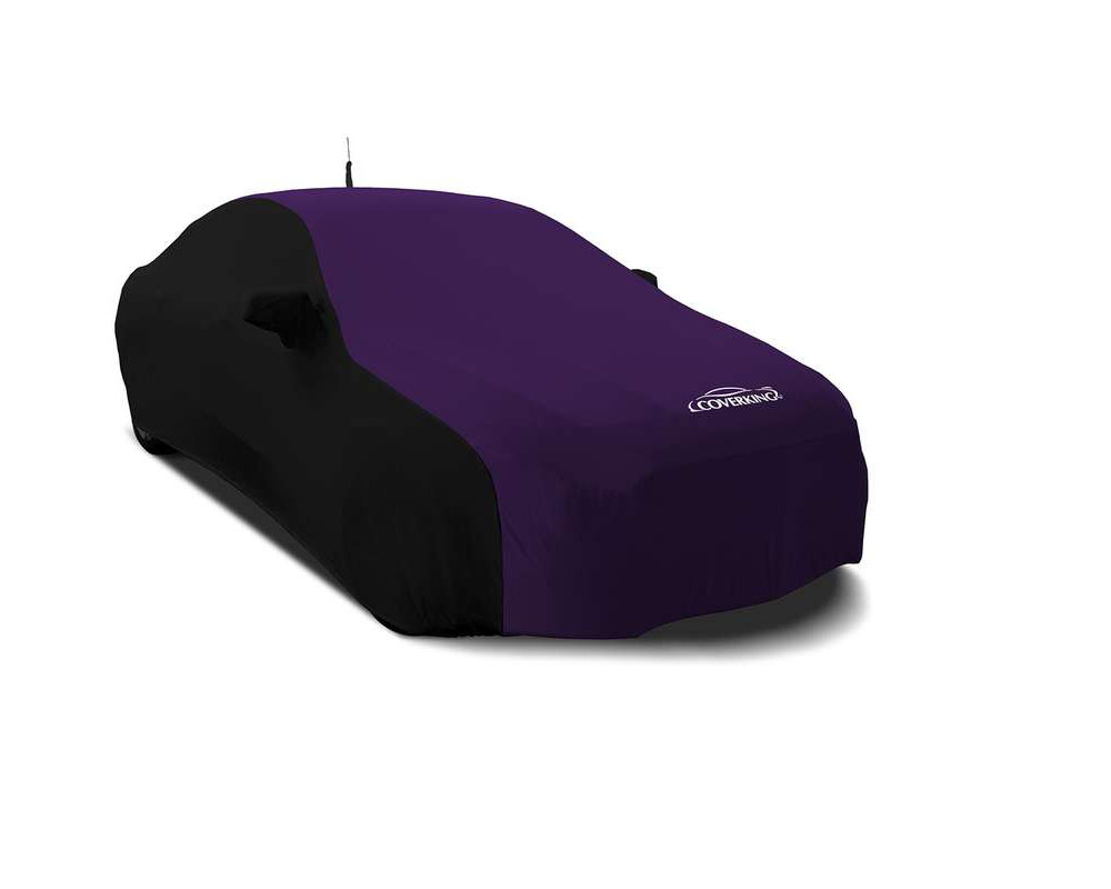 Coverking CVC4SS297MD9349 CVC4SS297 Satin Stretch 2-Tone Black Sides Plum Crazy Purple Center Custom Car Cover Mercedes-Benz S63 AMG | 65 AMG 15-18