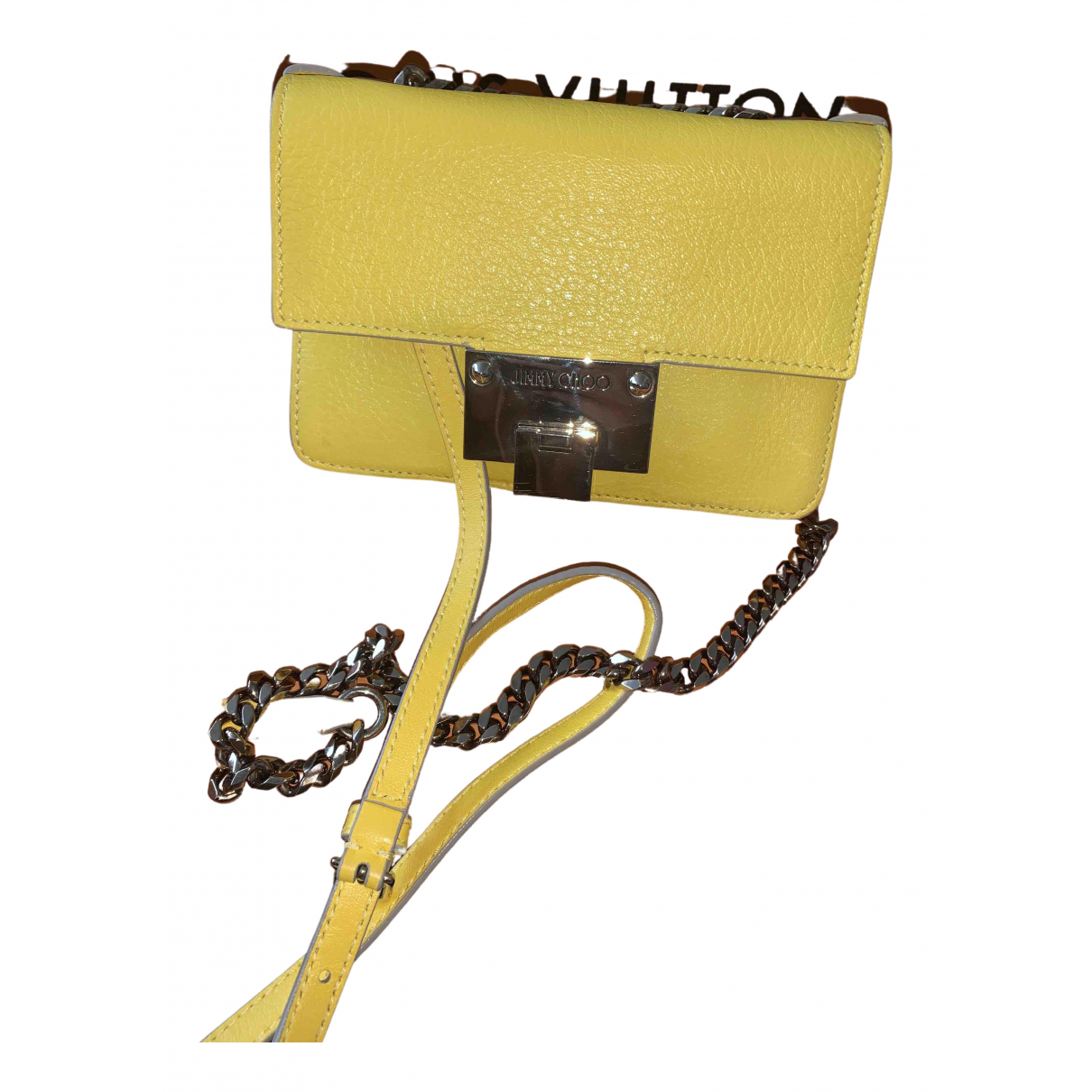 Jimmy Choo Rebel Yellow Leather handbag for Women N