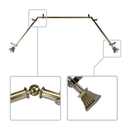 Rod Desyne Trumpet Bay Window Rod, One Size , Brown