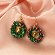 Christmas Bell Charm Drop Earrings