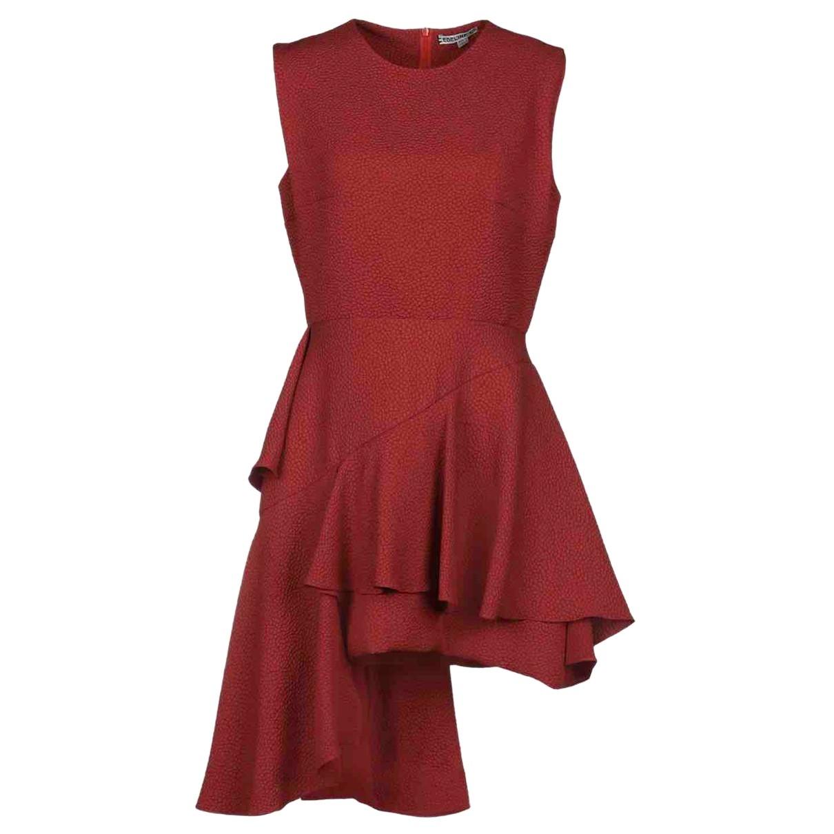 Edeline Lee \N Kleid in  Rot Polyester