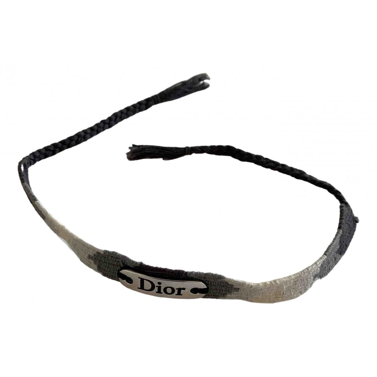 Christian Dior - Bracelet   pour femme en toile - gris