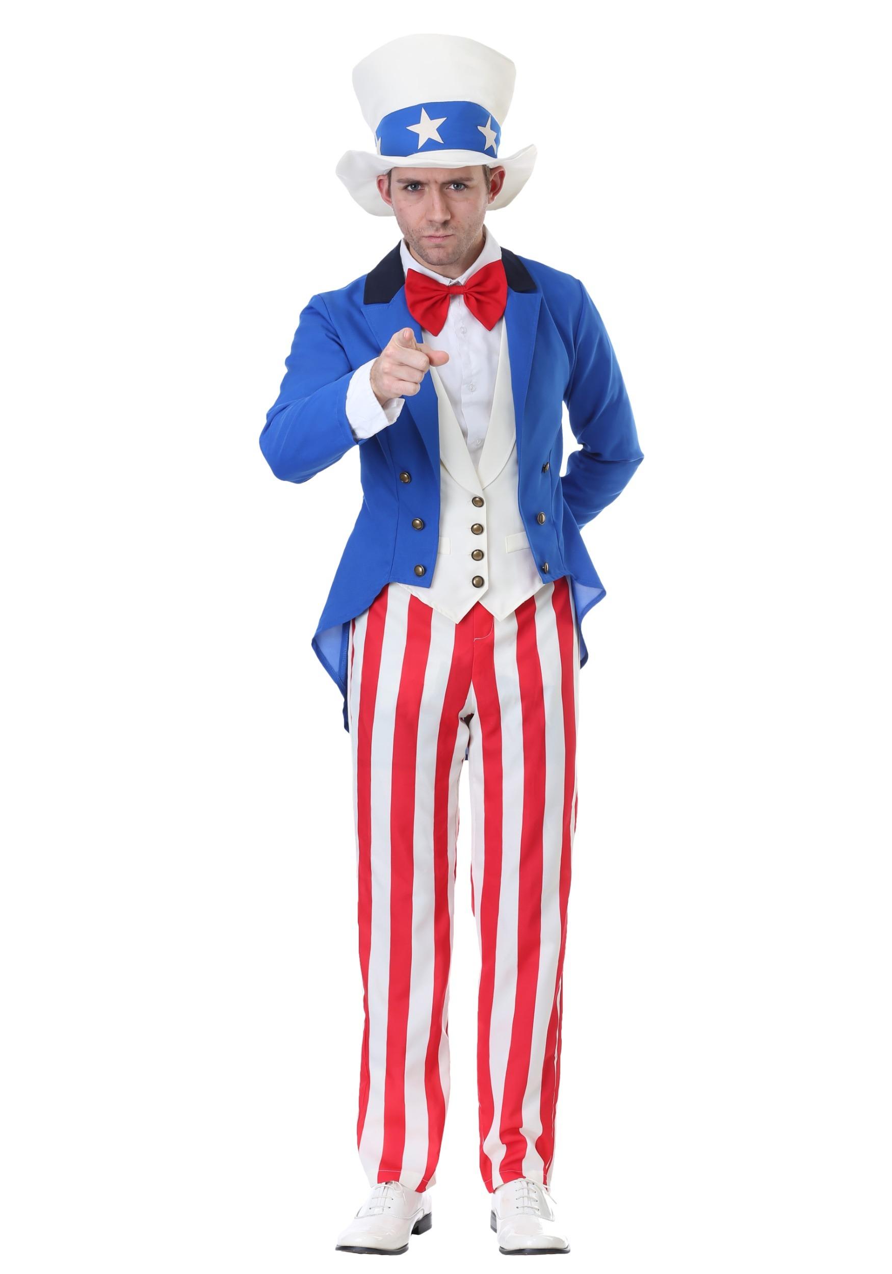 Classic Plus Size American Uncle Sam Costume   Seasons Costume