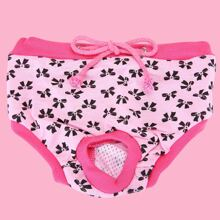 Bow Decor Dog Sanitary Pant